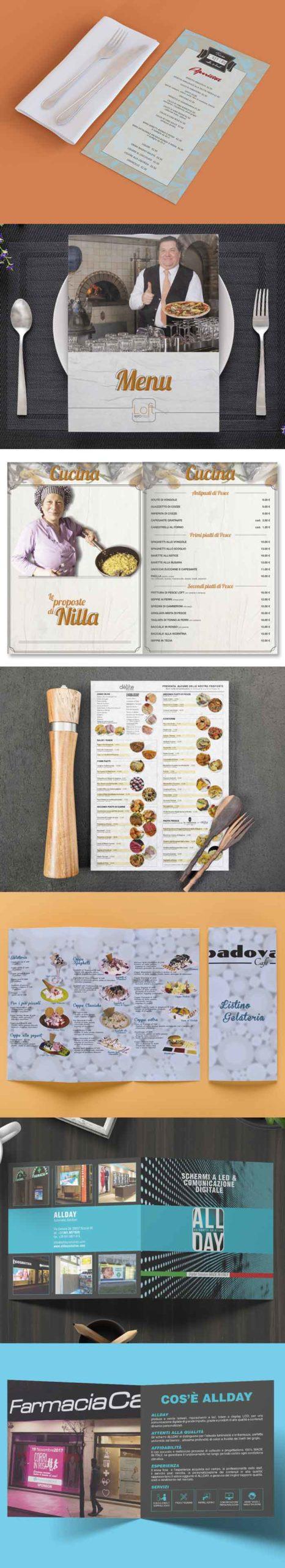 grafica menu ristorante grafiche bar pizzeria treviso